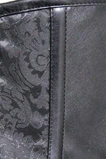 Корсет под грудь с плетеным кожаным декором - фото 17063