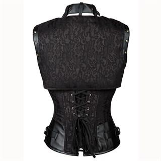 Черный корсет под грудь с болеро - фото 17085