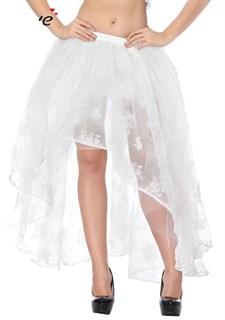 Ассиметричная юбка в пол с напылением. Белая - фото 17220