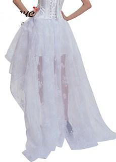 Ассиметричная юбка в пол с напылением. Белая - фото 17221