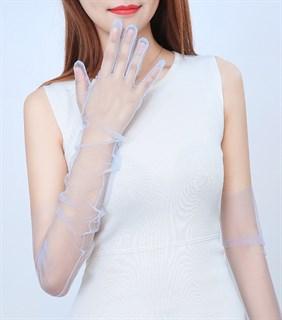 Перчатки из фатина 70 см. На узкую руку - фото 17262