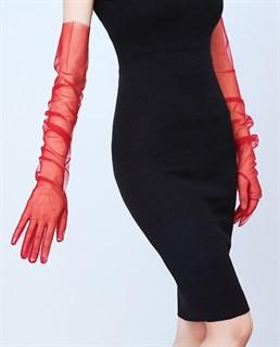 Перчатки из фатина 70 см. На узкую руку - фото 17263