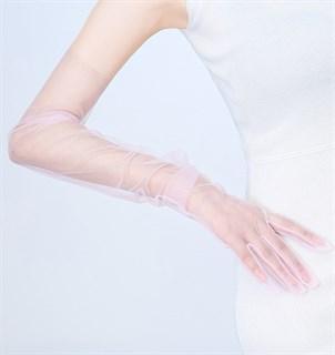 Перчатки из фатина 70 см. На узкую руку - фото 17264