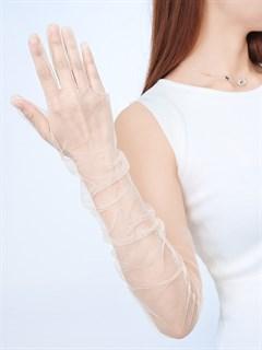 Перчатки из фатина 70 см. На узкую руку - фото 17265