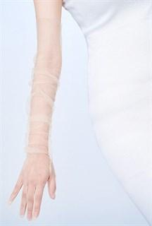 Перчатки из фатина 70 см. На узкую руку - фото 17269