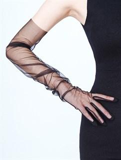 Перчатки из фатина 70 см. На узкую руку - фото 17273