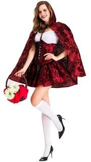 Шикарная Красная шапочка с корсажем и пышной юбкой