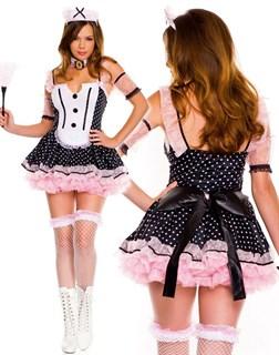 Игровой костюм горничной. Платье в горошек