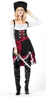 Карнавальный костюм пиратки. Сабля в подарок.