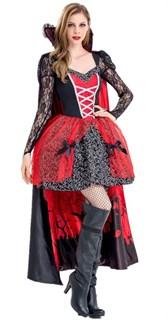 Платье вампирши с длинной юбкой и накидкой - фото 17291