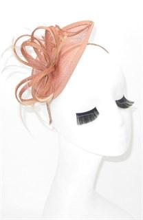 Шляпка маленькая Софи. Цвет пыльная роза