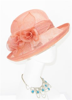 Летняя шляпа из синамей Шарлота. Пыльная роза