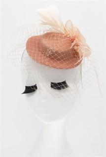 Персиковая шляпка Фелисити с объемным цветком