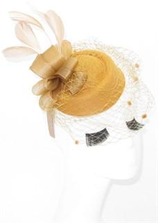 Шляпка с вуалью Жанна. Песочный цвет