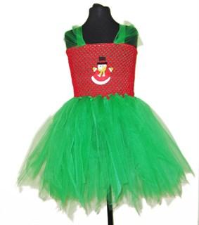Новогоднее платье со снеговиком