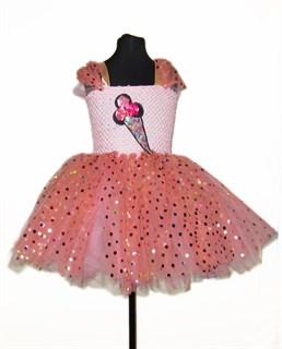 """Пышное платье """"Персиковое мороженное"""""""