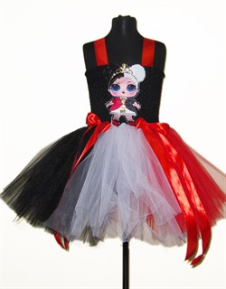 Платье карточной королевы для девочки с LOL