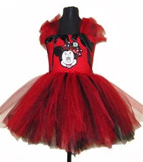 Платье пышное из фатина с Микки Маусом