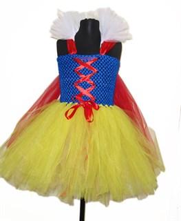 Платье Белоснежки пышное из фатина для девочки