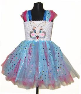 Праздничное платье из фатина Пушистый зайка