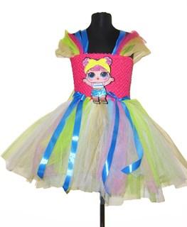 Платье из фатина ярко-розовое с LOL