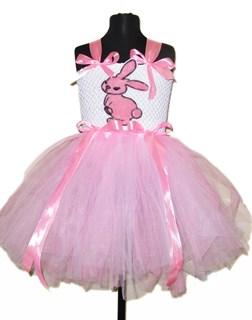 Пышное светло-розовое платье Розовый зайчик