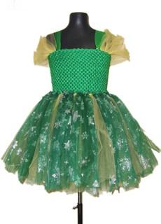 Пышное платье из фатина Зеленая снежинка