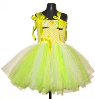 Нарядное ярко-желтое платье из фатина Единорог