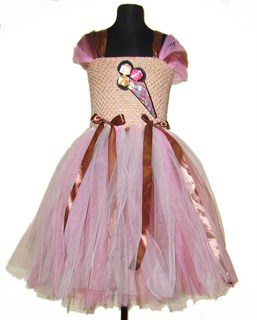 Нарядное платье из мягкого фатина  Крем брюле