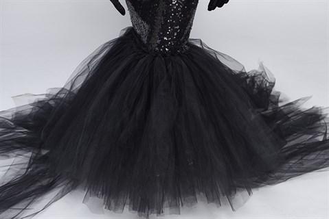 Платье с пайетками Черная русалка для мамы и дочки - фото 17922