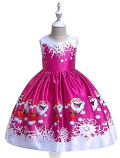 Новогоднее платье Весёлый Санта цвета фуксия