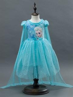 Платье с картинкой Эльзы из Холодного сердца