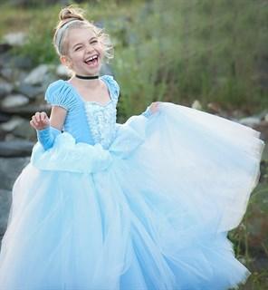 Костюм Золушки для девочки голубой