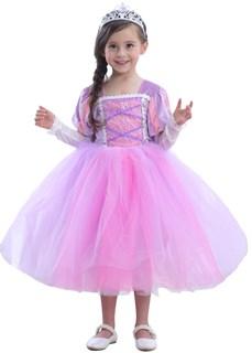 Пышное платье Рапунцель с рукавами