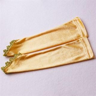Велюровые перчатки рукава на 6-10 лет. 4 цвета
