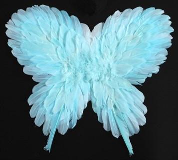 Крылья детские из перьев 40*50см. Голубые