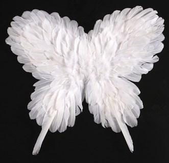 Крылья детские из перьев 40*50см. Белые