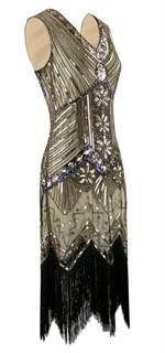 Платье в стиле 20х + мундштук. Золотое