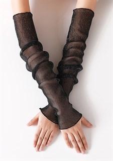 Прозрачные рукава с люрексом