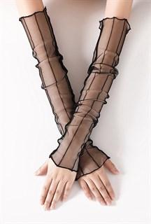 Прозрачные рукава в полоску