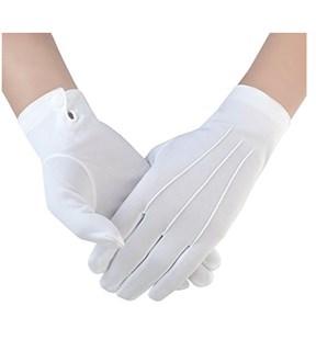 Универсальные перчатки белый трикотаж на кнопке