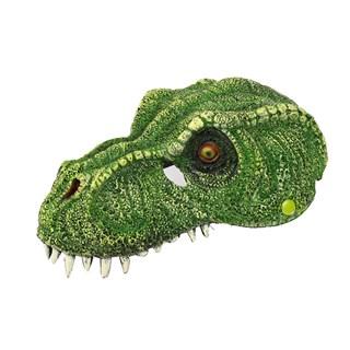 Мягкая полумаска зеленого динозавра 3D - фото 19178
