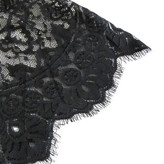 Черный гипюровый корсет с рукавами - фото 19234
