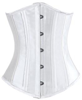 Белый атласный утягивающий корсет под грудь