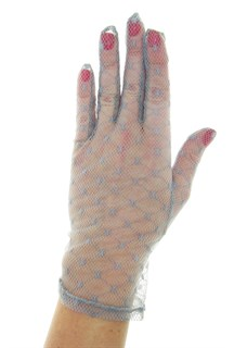 серые кружевные короткие перчатки