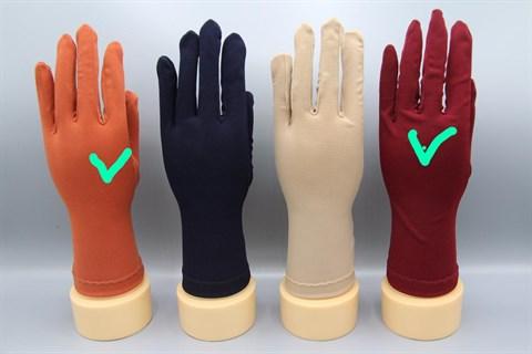 Трикотажные тонкие перчатки. Разные цвета - фото 19570