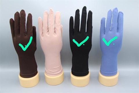 Трикотажные тонкие перчатки. Разные цвета - фото 19572