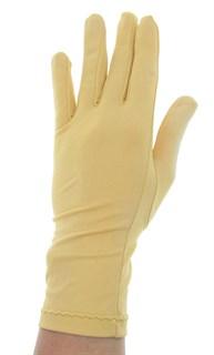 Летние перчатки трикотаж масло. Бежевые