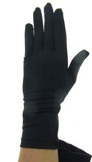 Черные летние перчатки трикотаж масло.
