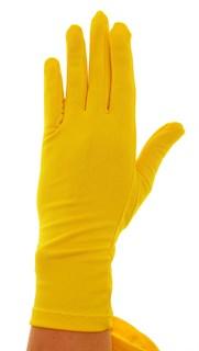 Желтые летние перчатки трикотаж масло